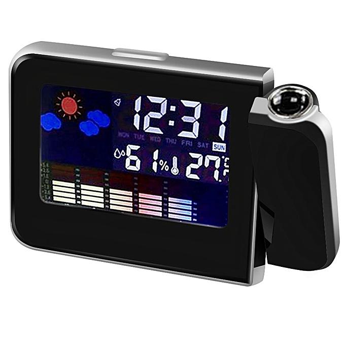 Other Alarm Clock Digital Projection Alarm Clock Weather Station Thermometer Hygrometer Bedside Table Wake Up Projector Clock-15112.5cm (noir) LJMALL à prix pas cher