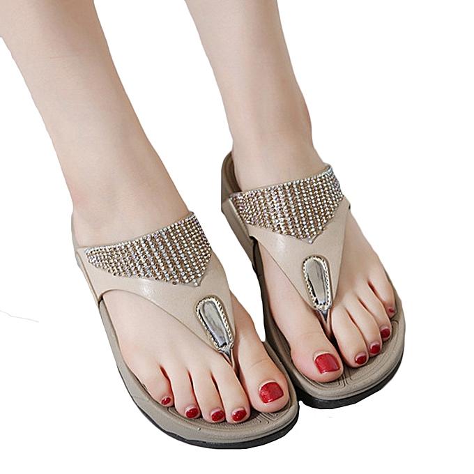 Fashion Jummoon Shop Fashion Summer New Sandals femmes chaussures Bohemian Wedge Flops Beach Sandals à prix pas cher