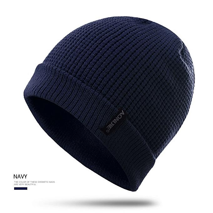 AONIJIE Winter Hats Hip Hop Knitted Hat Ski Beanie Running Caps Warmer Bonnet For Men and femmes(bleu) à prix pas cher