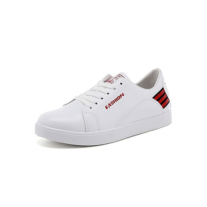 OEM New low-cut casual chaussures breathable blanc chaussures male student chaussures striped hommes chaussures youth sports chaussures-rouge à prix pas cher    Jumia Maroc