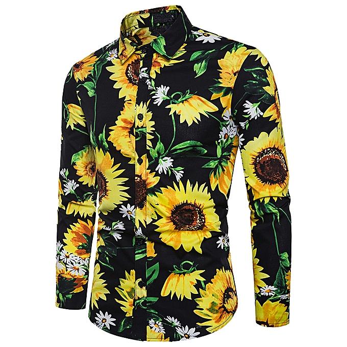 Fashion Men Autumn Winter Casual MultiCouleur Long Sleeve Slim T-Shirt Top Blouse- noir à prix pas cher
