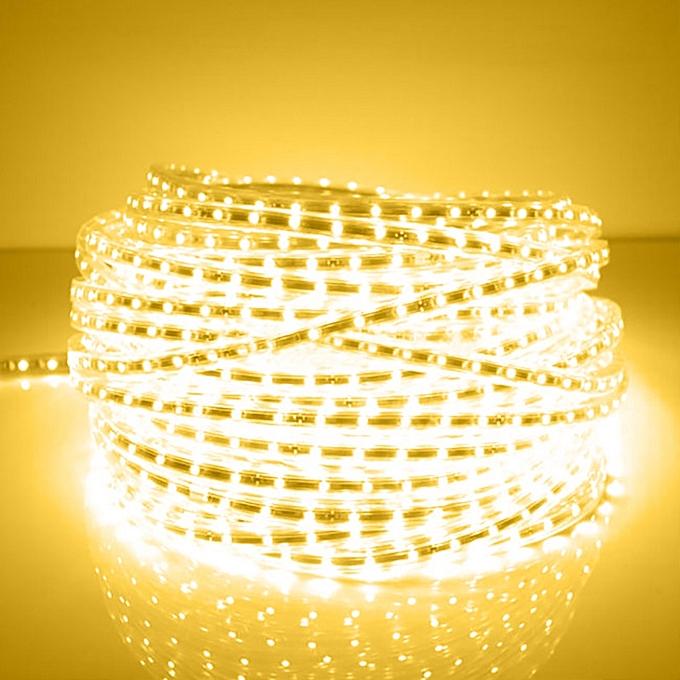 Sunsky 600 LEDs SMD 5050 Casing IP65 Waterproof  LED Light Strip With Power Plug, 60 LED m,  Length  10m, AC 220V(Warm blanc) à prix pas cher