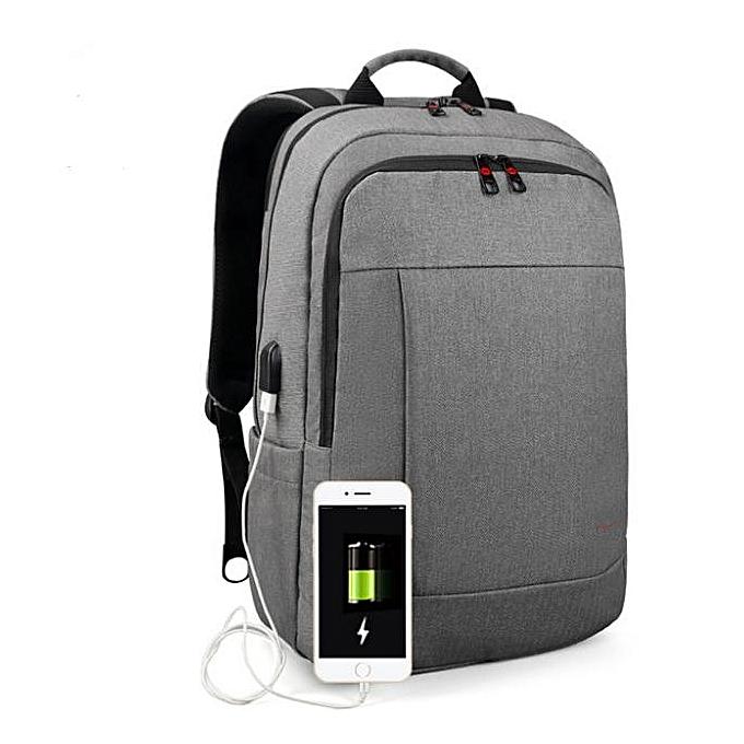 OEM New Anti theft USB charging Men 15.6inch Laptop Backpack for femmes Fashion Travel Bag gris à prix pas cher