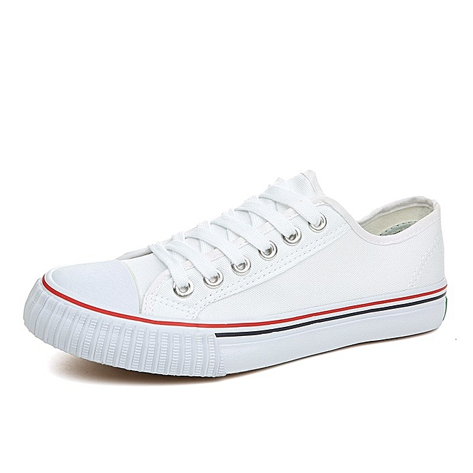 Other Spring Classic Men's Korean New Couple Canvas Sport chaussures-blanc à prix pas cher    Jumia Maroc