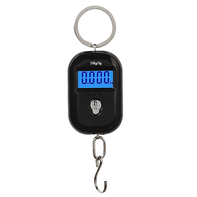 Other WeiHeng 25Kg X 5G New Scale Digital Hanging Scale Mini Electronic  Hook Scale Lcd Backlight Steelyard(noir) à prix pas cher