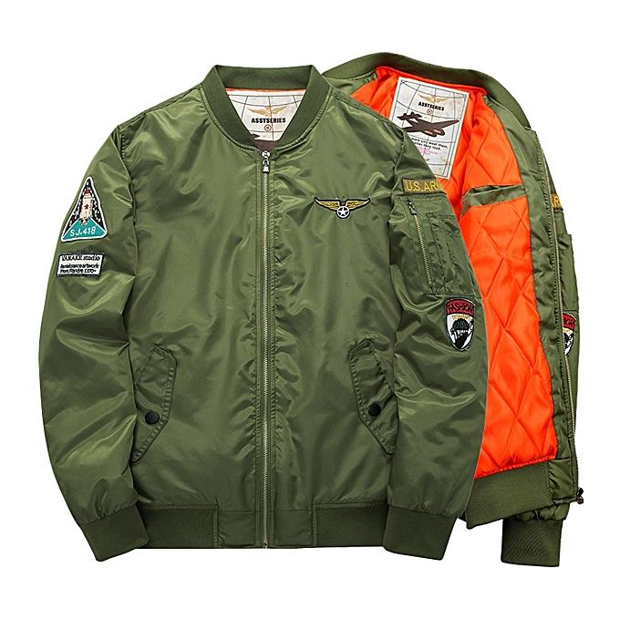 mode ASSTSERIES Pour des hommes Embroidery Bomber veste Thick Warm mode Décontracté Baseball Flumière veste à prix pas cher