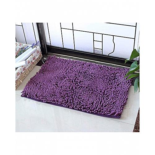 Tapis absorbant en microfibre douce Moquette 80 X 50 violet antidérapant de  salle de bain