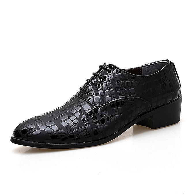 Fashion Formal chaussures Men Casual Leather chaussures (noir) à prix pas cher    Jumia Maroc