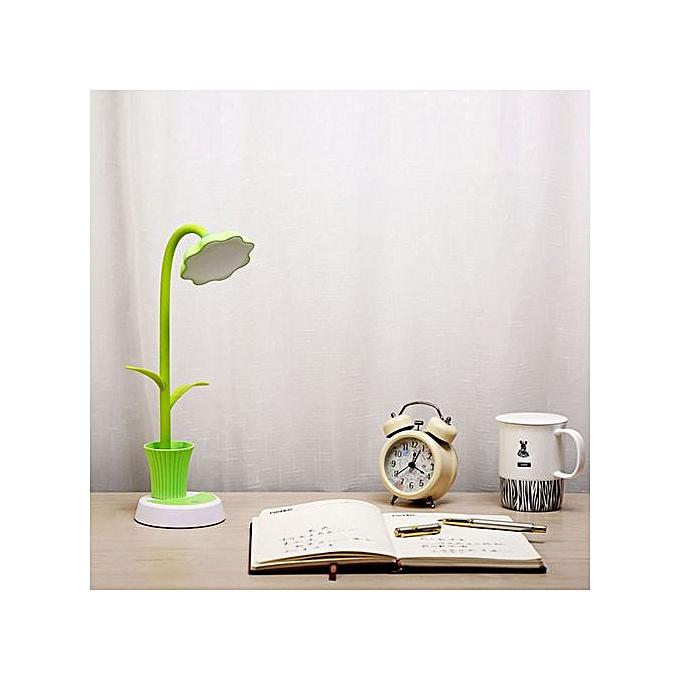 Generic Haojks-New Sunflower LED Charging Desk Lamp Support Eye Prougeection Small Desk Folding à prix pas cher