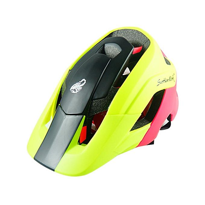 UNIVERSAL Outdoor Sports Mountainbiking Prougeective Helmet, Suitable Head Circumference  58 - 53 cm, Taille  L (noir+jaune) à prix pas cher