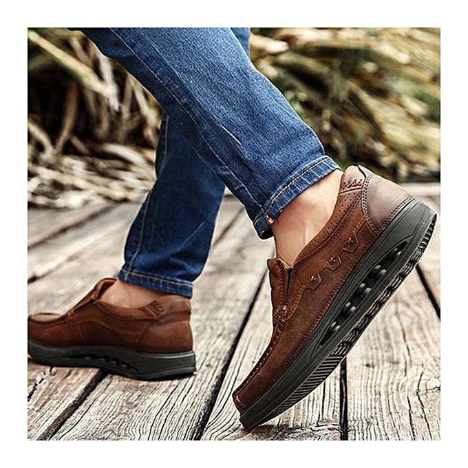 Fashion Fashion   Genuiner Leather Comfy Wearable prix Slip On Casual Flats Shoes-EU à prix Wearable pas cher  | Jumia Maroc 313513