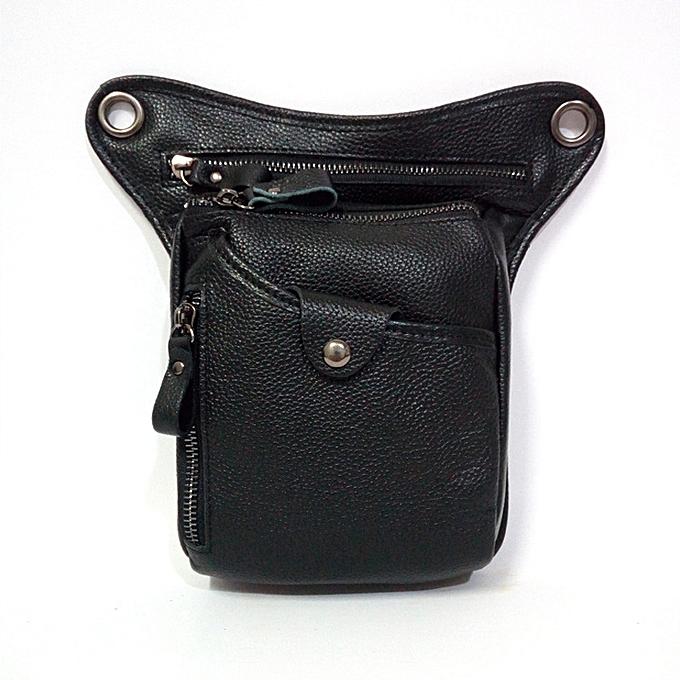 Fashion Vintage Genuine Leather Riding Waist Bag Casual Crossbody Shoulder Bag for Men à prix pas cher