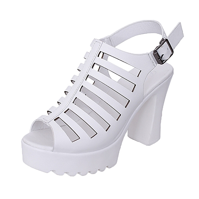 Generic Generic Rough HolFaible Rohomme chaussures Wohommes imperméable Sandals High-Heeled Open-Toed chaussures. A1 à prix pas cher