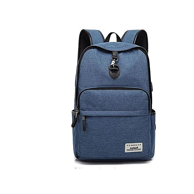 Fashion Design Fashion Solid Couleur Canvas Men's Backpack Student bag à prix pas cher
