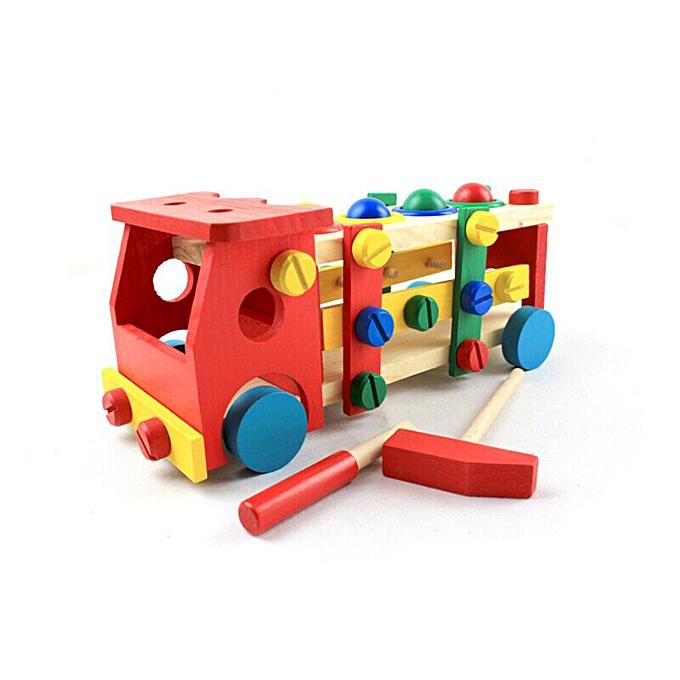 Generic Enfant Educational boisen Toy Disassembly Screw Nut Vehicle voiture Knock Ball à prix pas cher