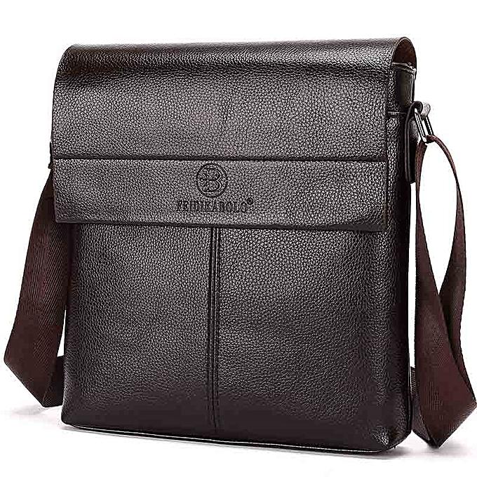 Other FEIDIKABOLO New Collection Fashion Men Bags Male Leather Messenger Bags Man Travel Business Crossbody Shoulder Bag Men's Handbag(marron) à prix pas cher