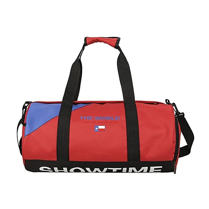 Other 2019 nouveau voyage sacs Exercise Fitness voyage sacs portable grand capacité Messenger sacs imperméable Handsacs Hommes femmes(rouge) à prix pas cher