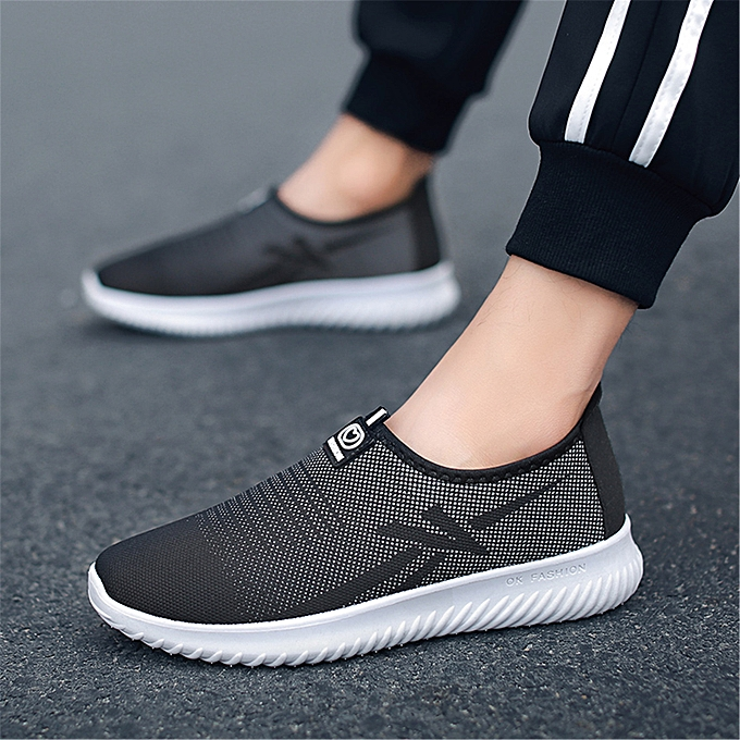 Fashion baskets Men Mesh Slip On chaussures Breathable Moccasins For Male Loafers à prix pas cher