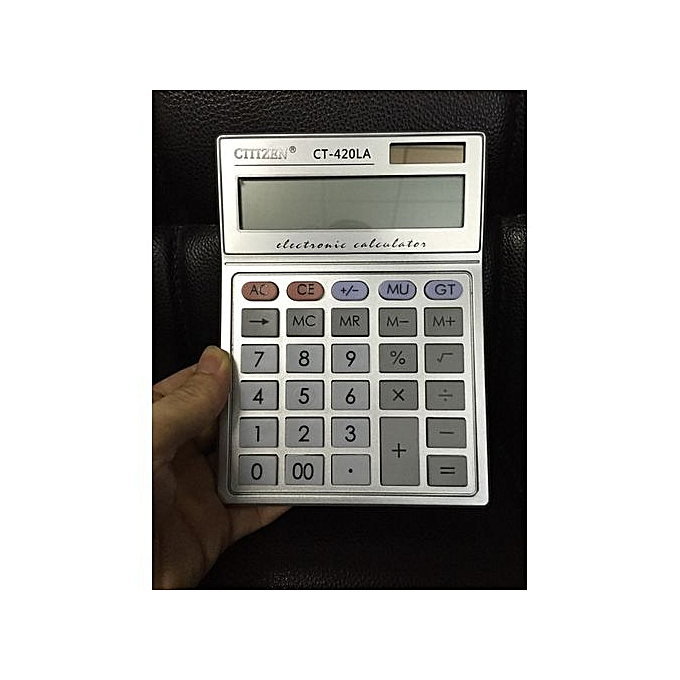 Generic CT-420LA 12 Digit Solar Arithmetic Calculator Fashion Calculator Financial Accounting à prix pas cher