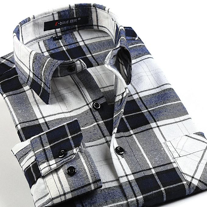mode Nouvelle chemise à hommeches longues pour hommes en flanelle décontractée et créative à prix pas cher