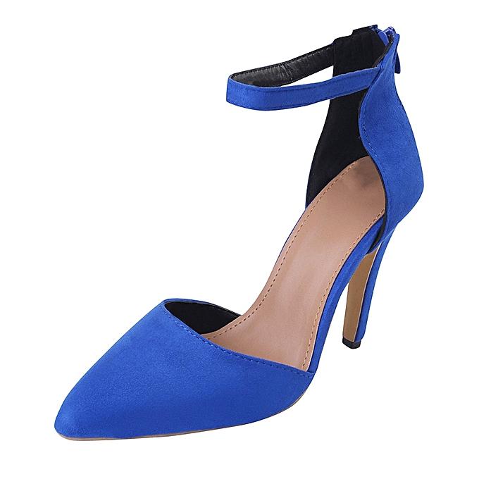 Générique Sedectres Sedectres Générique WoHommes    Ankle Thin High Heels Block Pointed Toe Party Singel Shoes-Blue à prix pas cher  | Jumia Maroc fdb5c8