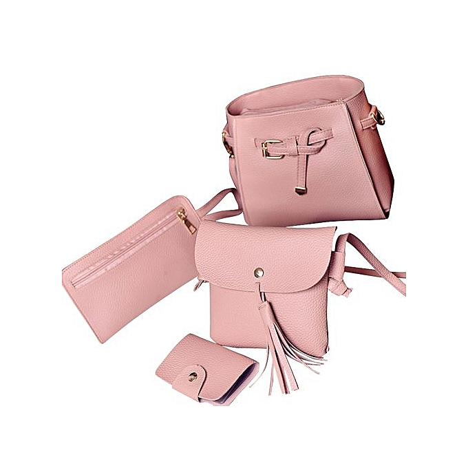 b314585467ab6 Tectores Women Four Set Fashion Handbag Shoulder Bag Four Pieces Tote Bag  Crossbody Wallt