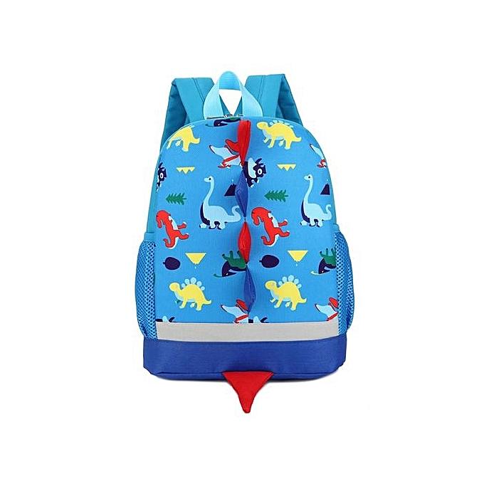 nouveauorldline   garçons Girls Enfants Dinosaur Pattern Animals sac à dos Toddler School sac-bleu à prix pas cher