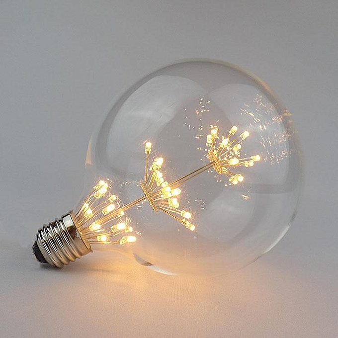 UNIVERSAL ZX E27 E14 3W Retro Sky Star Edison Bulb LED Incandescent Lamp Chandelier Hanging Light AC220V à prix pas cher