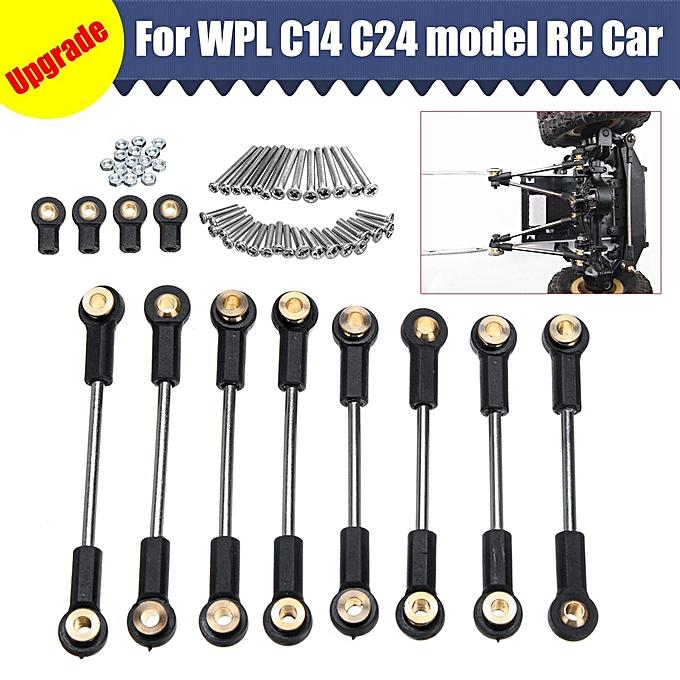 UNIVERSAL Upgrade Part Metal Suspension Toe Link cravate Rod Set For WPL 1 16 C14 C24 RC voiture à prix pas cher