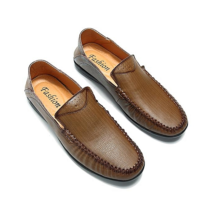 Fashion Fashion   Vintage Breathable Flat Slip On Leather  Business Casual Formal Shoes-EU à prix pas cher  Leather | Jumia Maroc 022f62