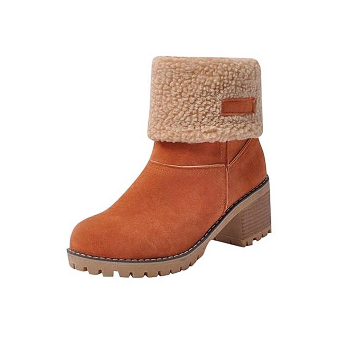 Fashion Hiamok Wohommes Ladies Winter chaussures Flock Warm bottes Martin Snow bottes Short démarrageie à prix pas cher    Jumia Maroc