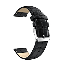 18mm Leather Strap Replacement Watch Band Wrist Strap Huawei Asus Zenwatch 2 BK