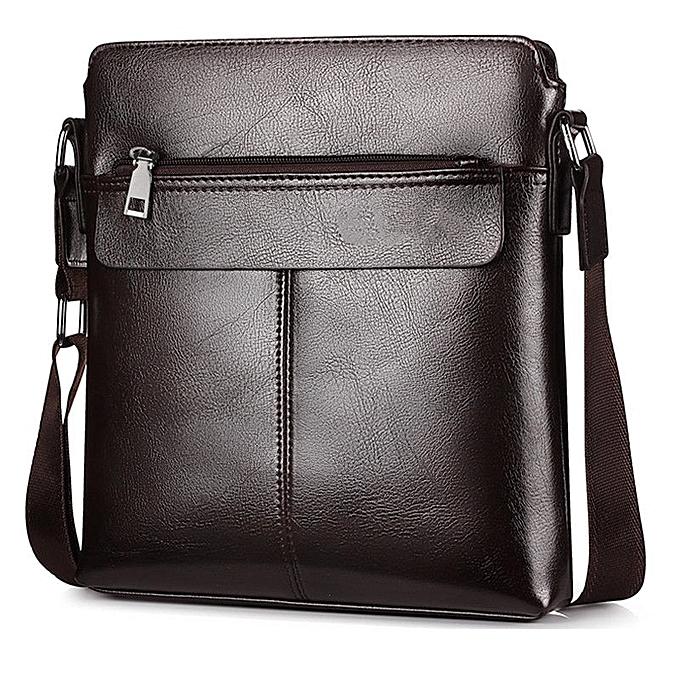 Other PU Leather Men Business  Briefcase Handbag Laptop Shoulder Messenger Bag(Dark marron) à prix pas cher