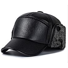 Casquette Homme Hiver GRAND FROID cache-oreilles pliables- cuir noir 6ef4795fe4a0