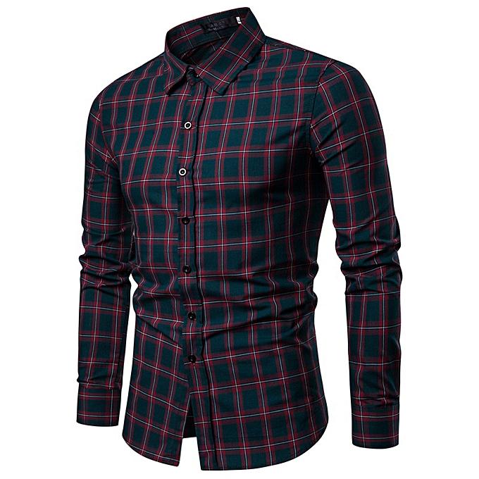 Fashion Men's Winter And Autumn New Top Men's Casual Wear Long Sleeved Shirt -vert à prix pas cher