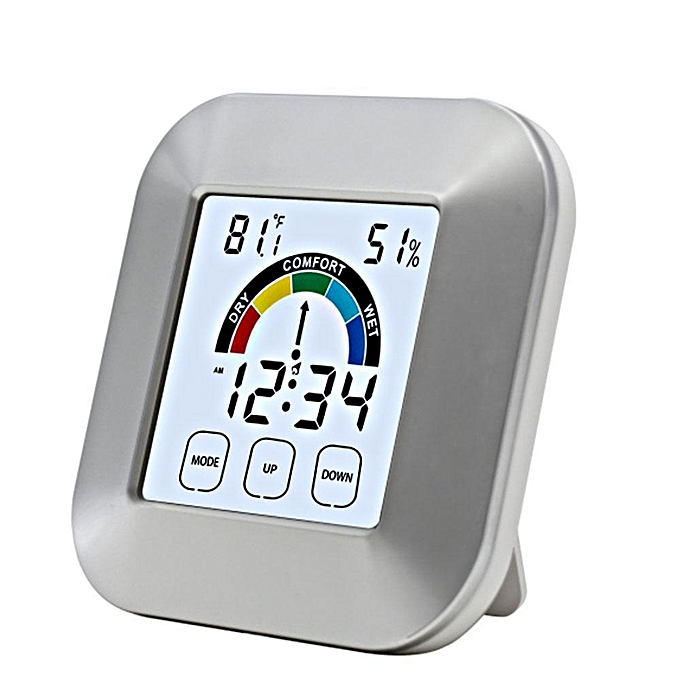 Other EN8806 Digital Hygrometer Indoor Thermometer Humidity Monitor With Temperature Humidity Gauge, Time Display, Colck, Comfort Level Indicator For Bedroom Living Room Babyroom (argent) LJMALL à prix pas cher