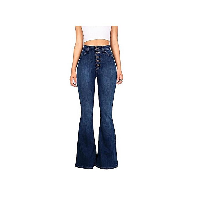 mode 2018 Hot Sale Slim High Waist Hip Denim Flare Pants à prix pas cher