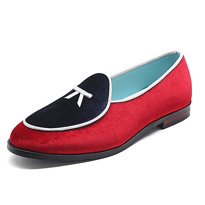 Other Stylish Men Suede Loafers chaussures Flat Driving chaussures Lazy chaussures-rouge à prix pas cher    Jumia Maroc