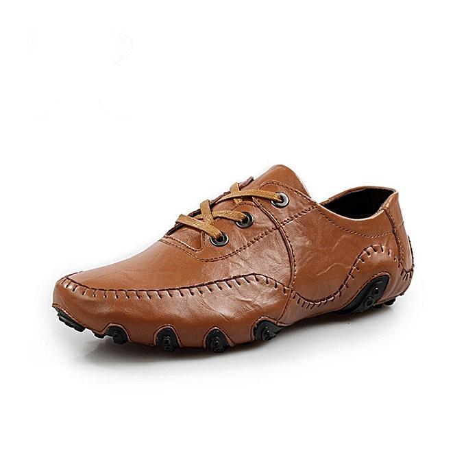 Fashion Men Soft Leather Breathable Oxfords Octopus Pattern Rubber Sole Driving chaussures à prix pas cher