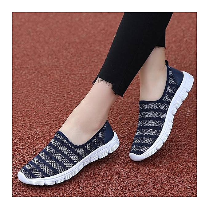 Fashion Fashion WoHommes  Large Size Size Size Stripe Mesh Breathable Flat Casual Soft Shoes Sneakers-EU à prix pas cher  | Black Friday 2018 | Jumia Maroc 6bbe1c