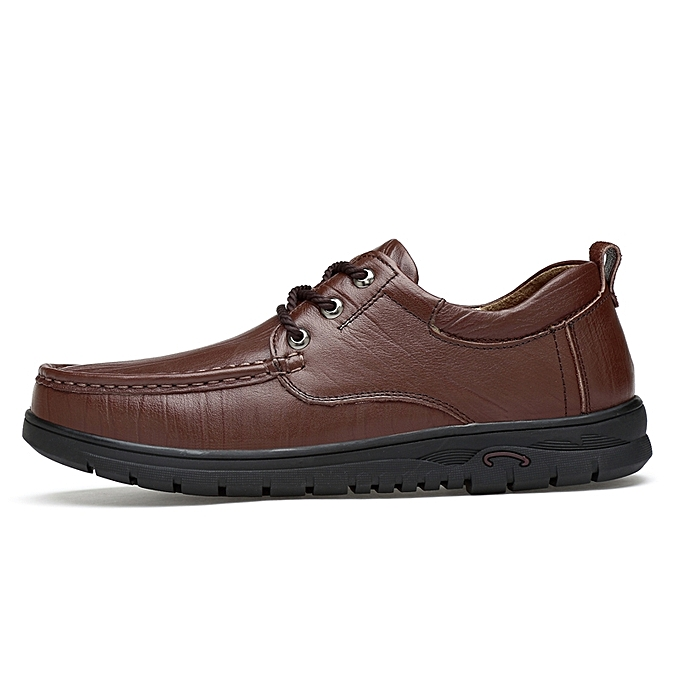 Fashion Full Grain Leather  Shoes   Leather Business Casual Shoes (Brown) à prix pas cher  | Black Friday 2018 | Jumia Maroc 36a05d
