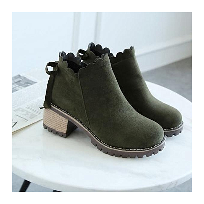 Fashion Fashion Retro Wave Zipper Block Round Toe Square Heels Heels Heels Platform Ankle Boots For WoHommes  à prix pas cher  | Jumia Maroc d1fe3c