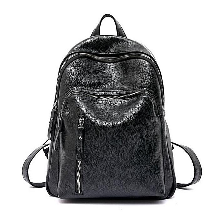 mode Wohommes Genuine cuir sac à doss Shoulder sac voyage sac à dos à prix pas cher