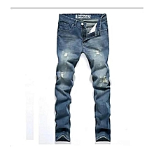 075dc2b951637 Fashion Men's Tapered Jeans Robin Jeans Pants Men Denim Pants Male  Ripped