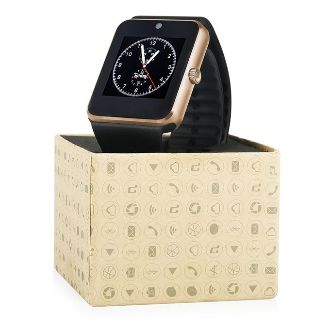 gt gt08 android smart watch montre connect e avec carte sim bluetouth camera whatsaap fb gold. Black Bedroom Furniture Sets. Home Design Ideas