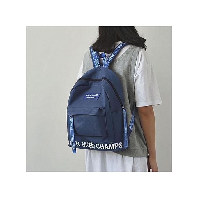 Neworldline femmes Men Girls Rucksack Shoulder Bookbags School Satchel Travel Canvas Backpack- bleu à prix pas cher