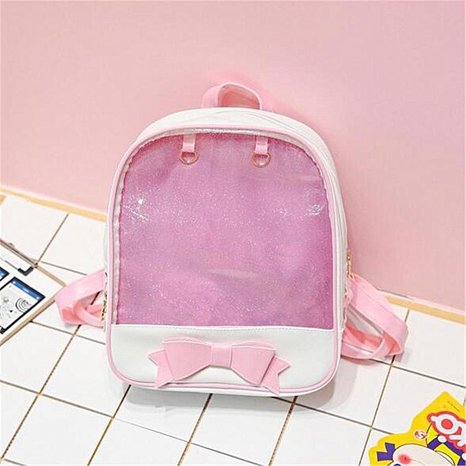 UNIVERSAL 6 Couleurs CLEAR ita bag Transparent itabag Pin Display Backpack school bags New à prix pas cher