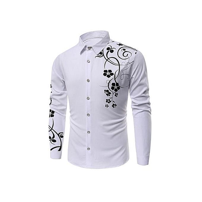 mode Floral Printed manche longues Shirt(M) à prix pas cher