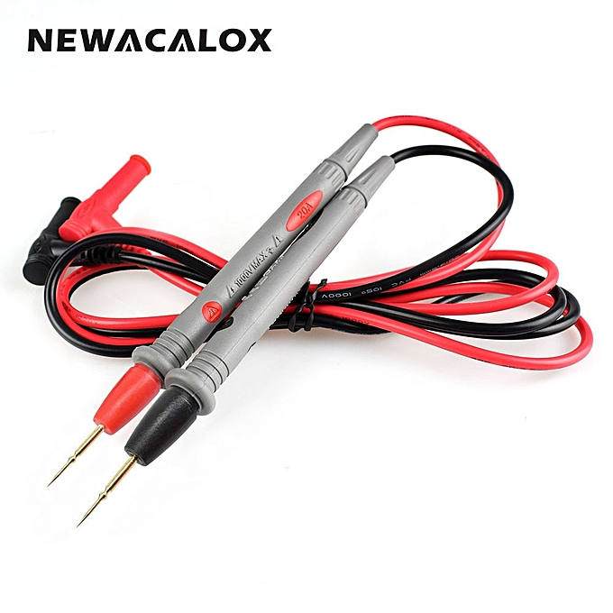 Other NEWACALOX Needle Tip Probe Test Leads Pin Hot Universal Digital Multimeter Multi Meter Tester Lead Probe Wire Pen Cable 20A à prix pas cher