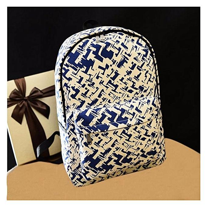 mode Tcetoctre femmes sac à dos toile School sac impression School sac à doss Shoulder sacs BU-bleu à prix pas cher